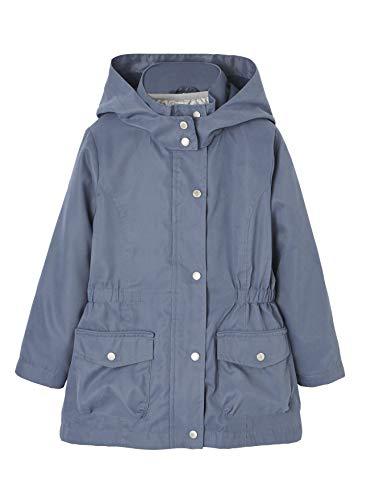 Vertbaudet Mädchen 3-in-1-Jacke Jeansblau/grau glanzeffekt 92
