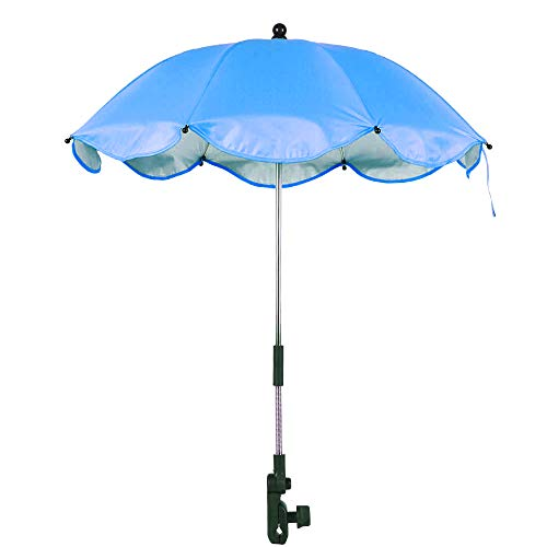 Dandelionsky Sombrilla de Acero para jardín o Patio, Ligera, Universal, para bebé, protección Solar, Parasol para Cochecito, Cochecito, Carrito y Silla de Paseo