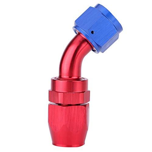 zhuolong Adaptador de Enfriador de Aceite de Montaje Giratorio de Extremo de Manguera de línea de Combustible AN10 anodizado(45°)