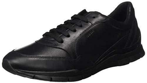 Geox Femme D Sukie Sneaker, Noir, 37 EU