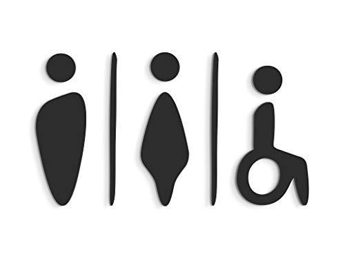 3DP Signs - Repujado Cartel baño Puerta (15 cm) SA102, en R