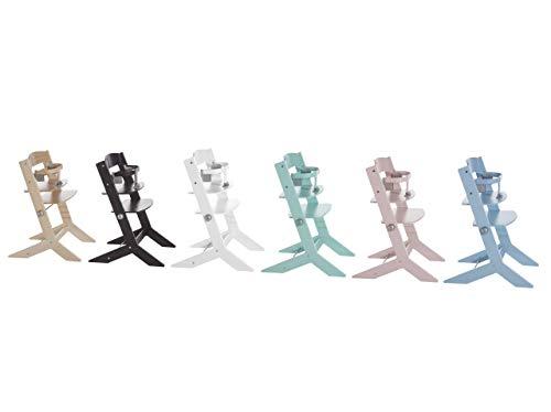 Geuther mitwachsender Hochstuhl Syt, Kinderhochstuhl, Treppenhochstuhl, Sitz- & Fußbrett verstellbar, Babyliege separat erhältlich, TÜV-geprüft, Holz, grau