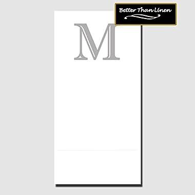 M BETTER THAN LINEN MONOGRAM GUEST TOWEL (16 CT.)