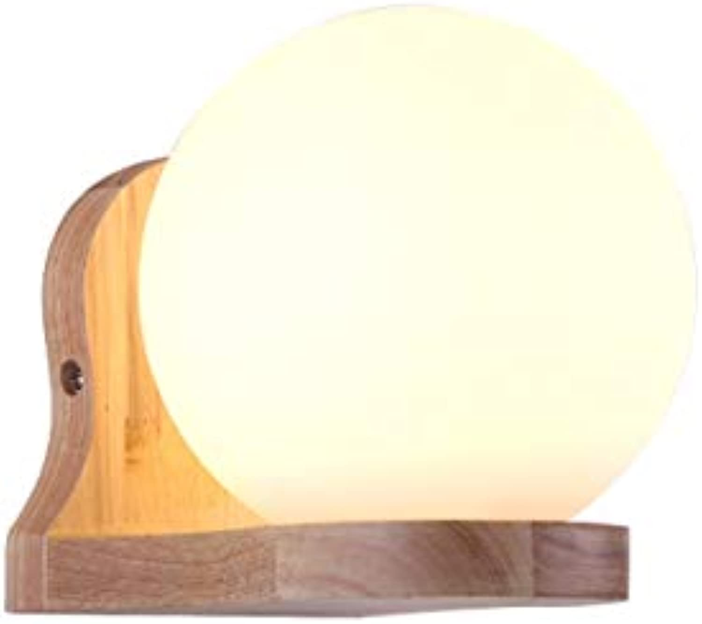 KLTTJ-Moderne Nachttisch Lampe Log-Wand Führte Gang Flur Treppe Schlafzimmer Massivholz Led-Lampe Wand-Lampe.