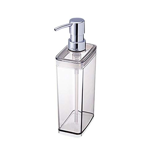 Dispensador de jabón de baño Creative Simple Plastic Presion-on Dispensadores de jabón Champú Gel de ducha Jabones Loción Jabón a mano Dispensadores de jabón 300 / 550ML Dispensador de jabón recargabl