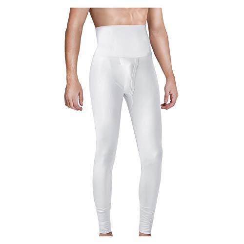 SADDPA Johns Largo Pantalones de Cintura Alta de los Hombres Adelgaza la Talladora elásticas de compresión Medias Pijamas Pantalones for Hombre Pantalones de Ropa Interior térmica