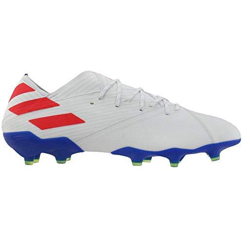 adidas Nemeziz Messi 19.1 FG Cleat - Men's Soccer White/Solar Red/Football Blue
