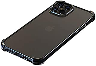 Devia Stylish TPU Glitter Shockproof Soft Case, Anti-yellowish and 1.2m Drop Protection Cover (iPhone 12 Pro Max 6.7, Black)