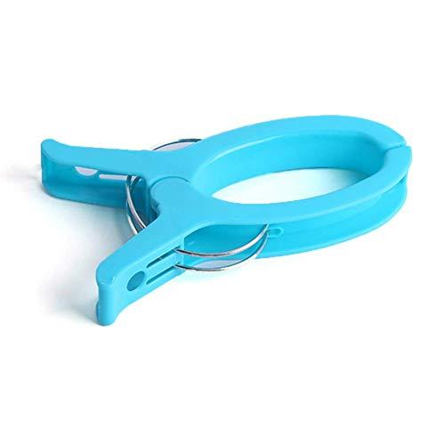 Soul hill 1 PC de plástico Pinzas for la Ropa Perchas Clothespins Potente Heavy Duty Pinzas for la Ropa Tumbona Quilt Decorativos Perchas Bastidores zcaqtajro (Color : Blue)