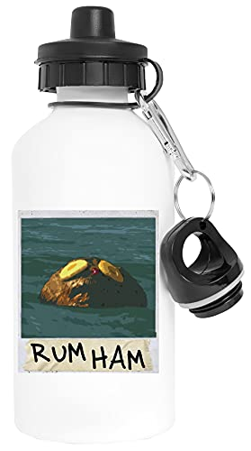 Rum Ham Aluminium Biały Butelka Wody Z Zakrętką White Watter Bottle With Screw Cap