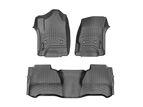WeatherTech Custom Fit FloorLiner Mats for 446071-445424 - 1st & 2nd Row in Black