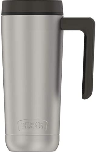 Guardian Collection by THERMOS TS1309 Stainless Steel Mug 18 Ounce Matte Steel Espresso Black product image