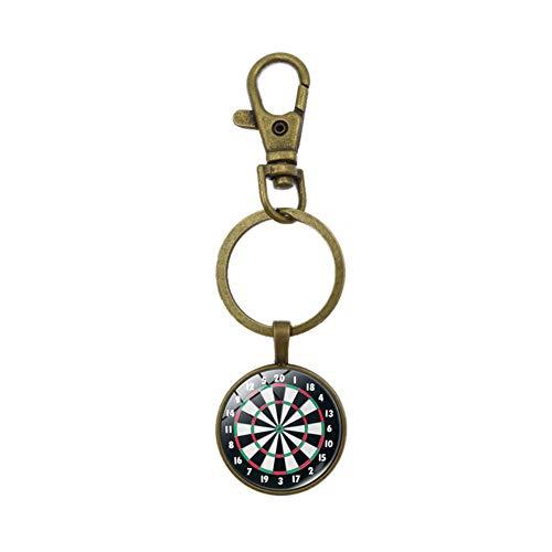 Benoon Schlüsselanhänger, Vintage-Dartscheibe, Schlüsselanhänger, Schlüsselanhänger, hängende Tasche, Ornament, Geschenk, goldfarben