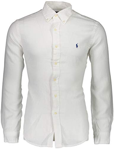 Polo Ralph Lauren Overhemden Wit - Slim Fit - 710741788 (XS) Hemd Weiß - Slim Fit - Never Out of Stock
