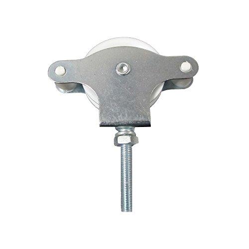 WolfPack 5120499 Polea Tendedero Zincado 40 mm. Roldana Plástico con Tornillo