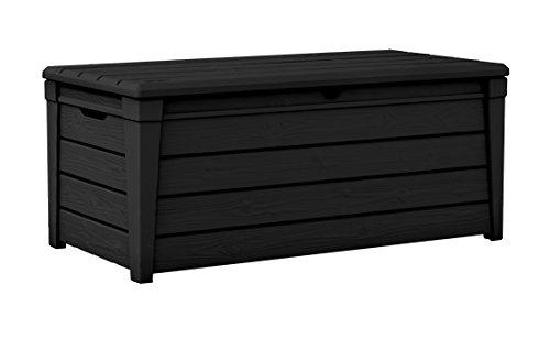 Koll Living Aufbewahrungstruhe Aspen, Graphit - ca. 454 Liter Stauraum - ca. 300 kg maximale Belastbarkeit - Sitzauflagen/Werkzeug trocken verstauen