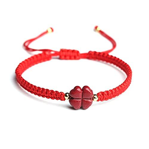 GvvcH Pulseras de Cuerda Trenzada para Mujeres y Hombres Cuerda Roja de la Suerte Hecha a Mano Pulsera Tejida con Dijes Joyería de la Amistad de la Familia