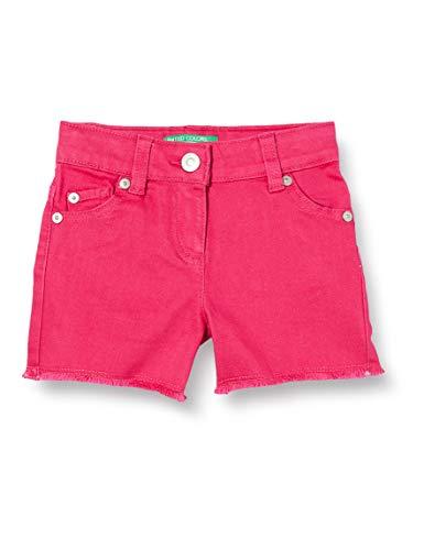 United Colors of Benetton Baby-Mädchen Shorts, Pink (Pink Peacock 2l3), 80/86 (Herstellergröße: 1y)