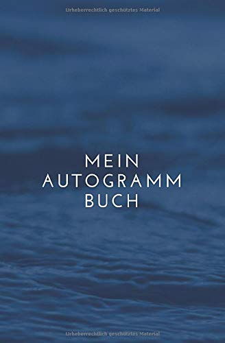 Mein Autogramm Buch: Erinnerungsbuch mit 120 Seiten um Unterschriften und Nachrichten von Stars und Promis zu sammeln - Notizbuch als Andenken für Signaturen oder zum Einkleben von Autogrammkarten
