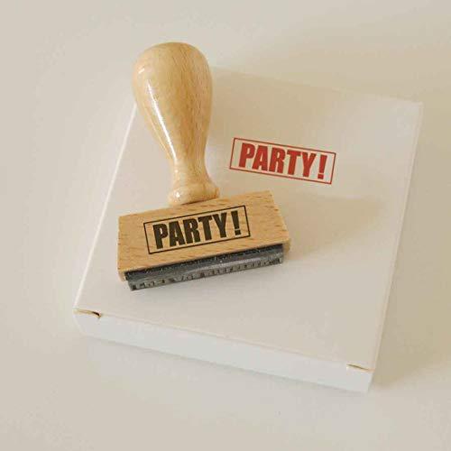 Sello de fiesta – sello original de madera de haya – un divertido regalo para cumpleaños, bodas, fiestas o el amigo invisible.