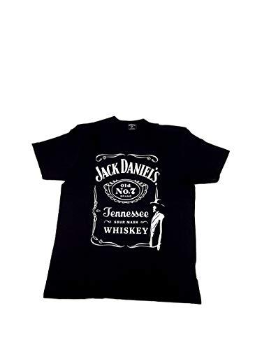 Jack Daniels T-Shirt/Herren in Größe L/Baumwolle in schwarz