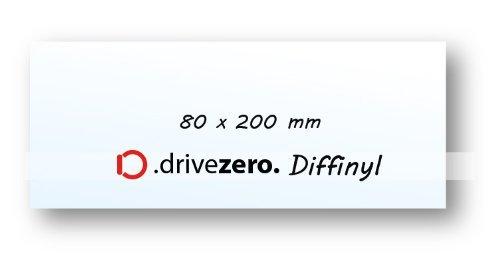 1x .drivezero. Diffinyl Lichtstreufolie 80 x 200 mm, für alle Taschen-/Kopf- und Arbeitslampen