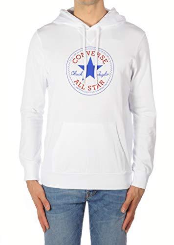 CONVERSE abbigliamento Sudadera Interlock Hood Sweatsh Chuck Color Sudadera Hombre White 17567 XL