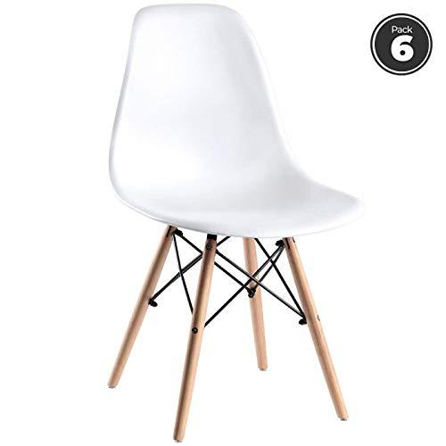 regalosMiguel - Sillas - Pack 6 Sillas Tower Basic - Blanco