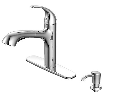 AquaSource Chrome Pull-Out Kitchen Faucet tem #: 265625 Model #: FP4A0008CP