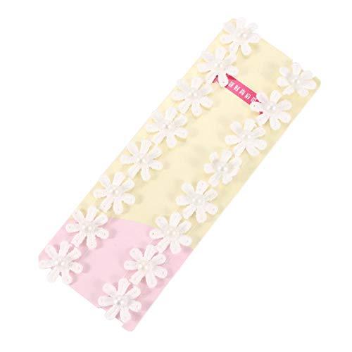 Yener kanten beha-bandjes Onzichtbare uitgeholde kanten bloem Dubbele schouderbanden Anti-slip beha-schouderband, 4