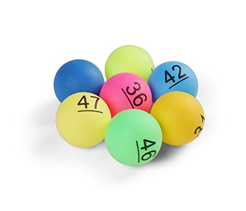 Komonee Numbered Ping Pong Table Tennis Balls 40mm with Numbers 1-150 (Pack Of 150)