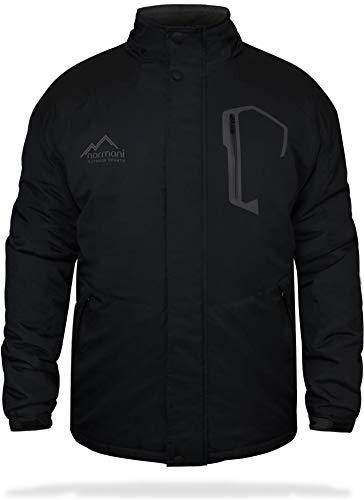 normani Winterjacke Herren Yukon Outdoor Parka mit Kapuze und Fell bis -25° Farbe Black Größe M