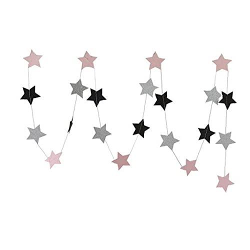 Cuerdas Colgar De La Pared 2pcs Cadena Estrella De Papel Guirnaldas De Cumpleaños Hecha a Mano Ramadán Bandera del Partido del Sitio De Niños Decoración del Hogar