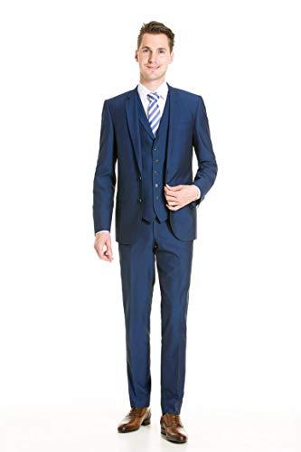 Kostuum met gilet blauw glans