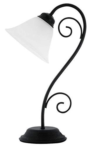 RABALUX tafellamp, glas, E14, zwart
