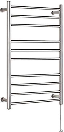 Toallero de toallero eléctrico con calefacción, toallero eléctrico de acero inoxidable 304, calentador de toallas de pared con 10 barras, para baño (tamaño : alambre duro)