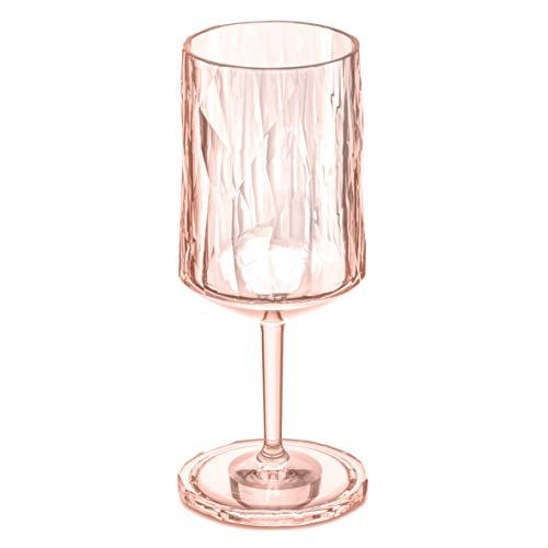koziol 3401654 Club N ° 10,2 cm 350 ml Verre à vin, Superglas transparentes, Quartz Rose