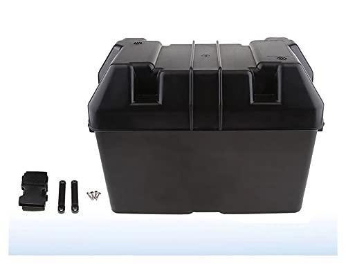 RONGSHU Auto RV Boot Marine Smart Batterie Box USB Autoladegerät Power Guard mit Gurt Fit Für Auto Truck Boot Anhänger RV Power Guard (Color : Black)