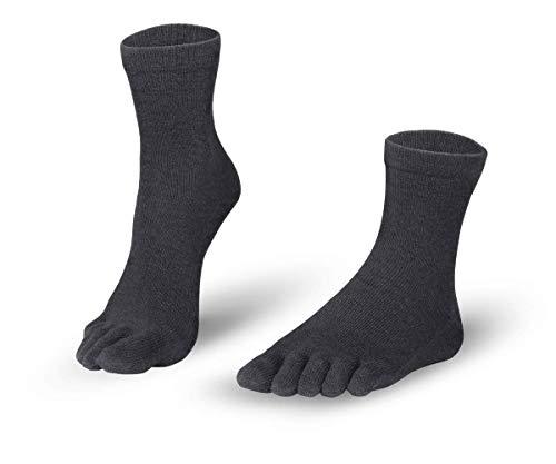 Knitido kurze Zehensocken Cotton and Merino Midi, leichte atmungsaktive Socken aus Merinowolle, für Damen & Herren