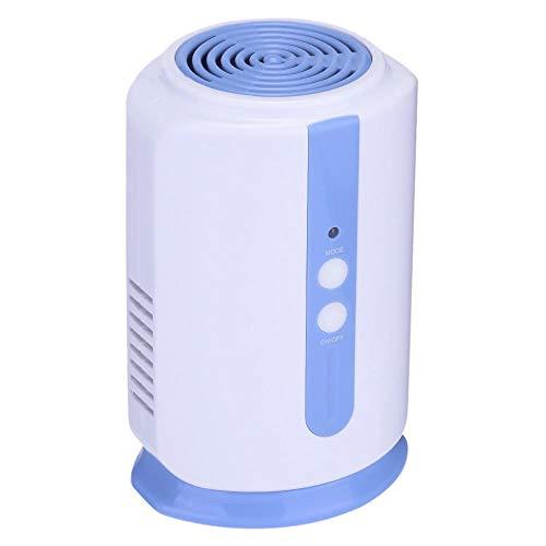Ozongenerator Luchtreiniger voor thuis, koelkast, levensmiddelen, groenten, fruit, kledingkast, auto-ionisator, ontsmetting, frisse luchtreiniger Wit en blauw.