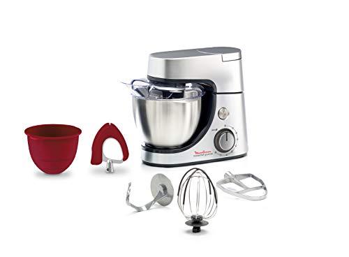 Moulinex Masterchef Gourmet QA530D10 - Robot de cocina, 1100 W, Bol de Acero Inoxidable 4.6 L, 8 velocidades, Multicolor