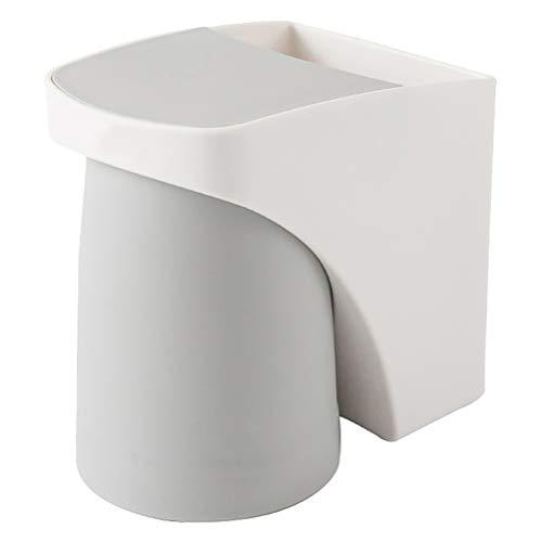 Cabilock Portaspazzolino da parete con bicchiere magnetico, dispenser per spazzolini da denti, salvaspazio per la casa del bagno