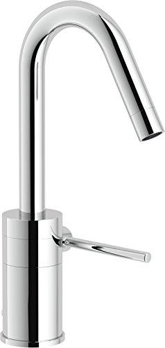 Nobili rubinetterie PL00118/1CR Plus Miscelatore Monocomando per Lavabo, Scarico 1 1/4 Pollici, Bocca 30⁰, Cromo