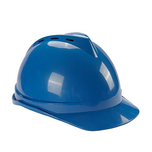 ZZXY Casco Seguridad, Casco de construcción ventilado, suspensión de trinquete de 4 Puntos, Ajustable, para el Trabajo, el hogar y protección General para la Cabeza