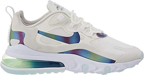 Nike Air MAX 270 React, Zapatillas para Correr para Hombre, Bianco Summit White Platinum Tint White Multi Colour, 41 EU