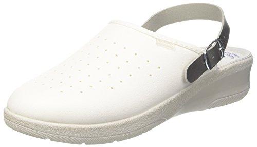 inblu 50000035 - Zapatillas Abiertas en el Tobillo para Mujer Blanco Size: 36 EU