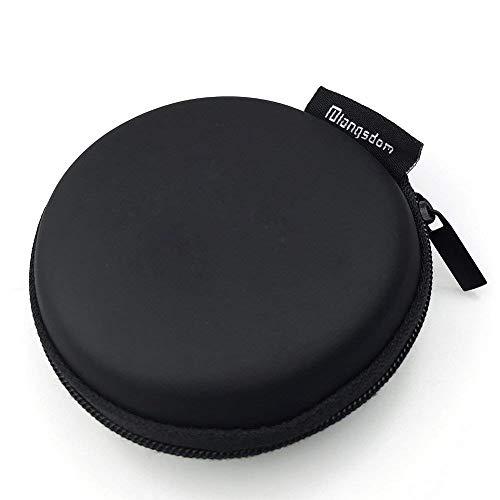 Langsdom Tragetasche mit Reißverschluss für Kopfhörer, iPod, MP3-Player, Schwarz
