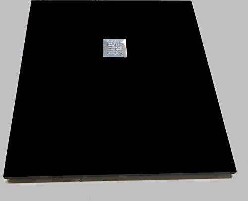 Composiet douchebak Solid Eco 90x120cm zwart