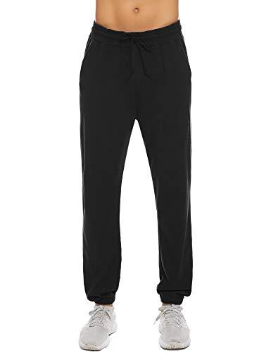 Hawiton heren pyjamabroek lang katoen nachtkleding joggingbroek sportbroek met trekkoord