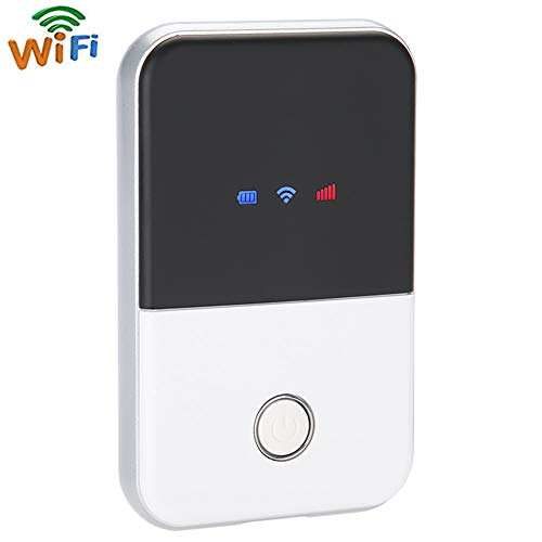 4G Pocket WiFi Router LTE Wireless Unlocked Travel Partner Modem with SIM Card,Required 4G Mobile LTE MIFI Router at Home and Abroad for Smartphone, Tablet Computer